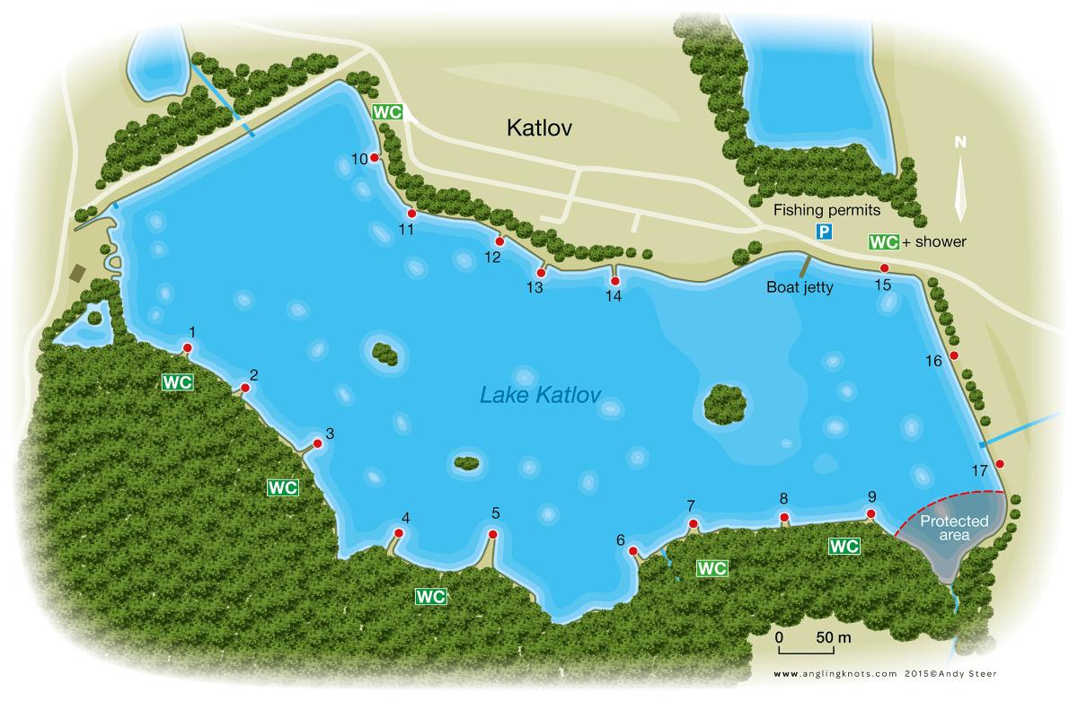 Озеро Katlov, Чехия